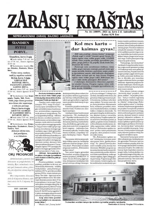 Zarasų-Visagino regiono VVG - laikraščio
